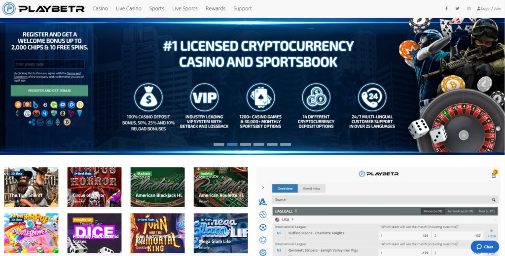 Top Ranked Bitcoin Casino Playbetr.com Review 1