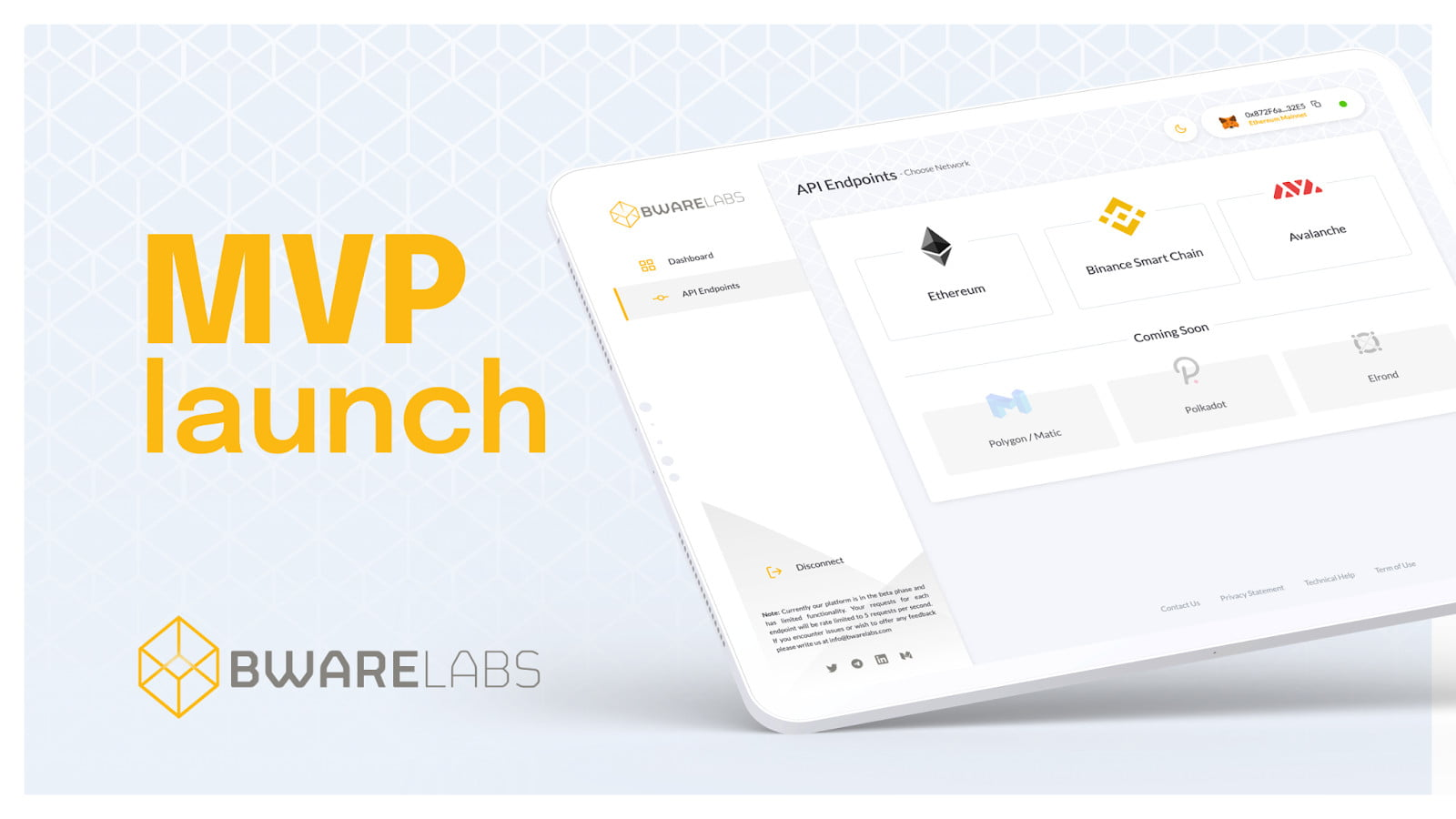 Bware Labs Launches MVP of High Performance Decentralized Node Network 3